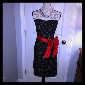 Women's Torrid black & white polkadot dress
